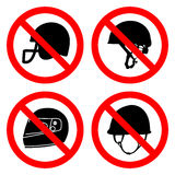No helmets icons set great for any use. Vector EPS10. Stock Photos