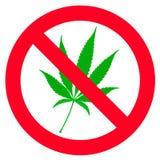 No hemp leaf sign Royalty Free Stock Photos