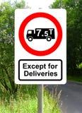 No HGV vehicles traffic sign Stock Photos