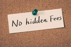 No hidden fees Royalty Free Stock Photography