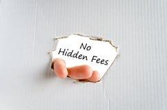 No hidden fees text concept Stock Images