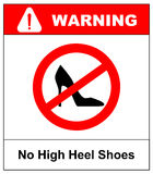 No high heel shoes sign on white background. vector illustration Royalty Free Stock Photography