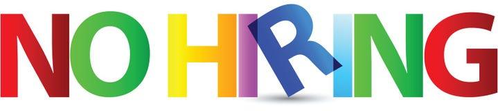 No hiring royalty free illustration