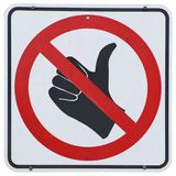 No Hitchhikers royalty free stock images