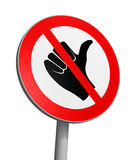 No hitchhiking Royalty Free Stock Photography