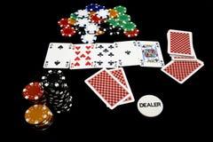 No holdem do póquer do jogo Imagem de Stock
