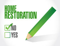 No home restoration sign illustration Royalty Free Stock Image