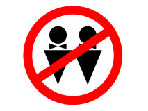 No homosexuality! Royalty Free Stock Photography