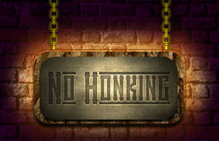 No Honking Sign Board Royalty Free Stock Image