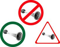 No Horn Blowing, Horn Blowing Allowed Stock Image