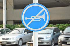 No horn sign Stock Photo