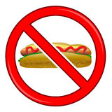 No Hot Dog Sign  Stock Photo
