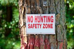 No hunting stock photography