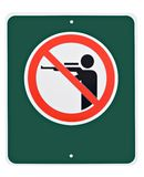 No Hunting. Sign Royalty Free Stock Images