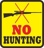No hunting area vector illustration