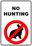 No hunting sign. No hunting permitted sign - illustration sign Stock Photos
