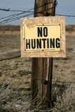 No Hunting Sign Royalty Free Stock Image