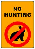 No Hunting Sign. No hunting permitted sign - illustration sign Royalty Free Stock Photos