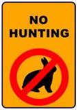 No Hunting Sign royalty free illustration