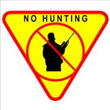 No Hunting Sign. No hunting permitted sign - illustration sign Royalty Free Stock Images