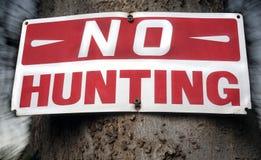 No hunting sign Stock Photos