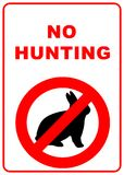 No hunting sign. No hunting permitted sign - illustration sign Royalty Free Stock Photo