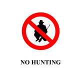 No hunting sign Stock Image