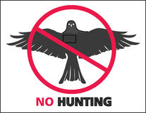 No Hunting Sign. On white background Royalty Free Stock Photography