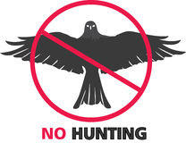 No Hunting Sign. On white background Royalty Free Stock Photo