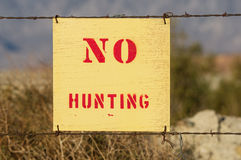 No Hunting Sign Royalty Free Stock Photography