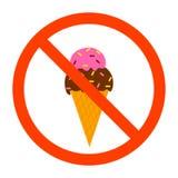 No ice cream sign stock illustration