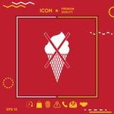 No ice cream symbol icon Stock Photography