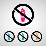 No icecream icon great for any use. Vector EPS10. Stock Photo