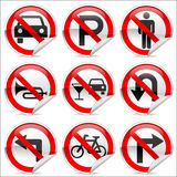 No icons 2. 9 prohibited signs that are common in use Royalty Free Stock Photo