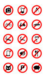 No icons Stock Image
