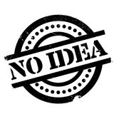 No Idea rubber stamp. Grunge design with dust scratches. Effects can be easily removed for a clean, crisp look. Color is easily changed Royalty Free Stock Photo