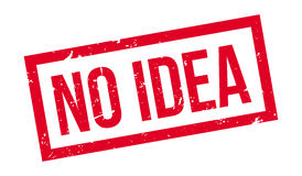 No Idea rubber stamp. On white. Print, impress, overprint Royalty Free Stock Images