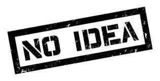 No Idea rubber stamp. On white. Print, impress, overprint Stock Image