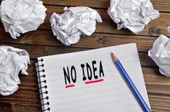 No idea words. On notebook Stock Photo