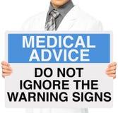 Não ignore sinais de aviso Imagens de Stock Royalty Free
