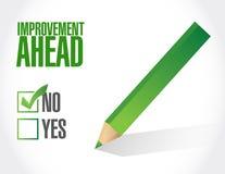 No improvement ahead sign illustration Stock Images