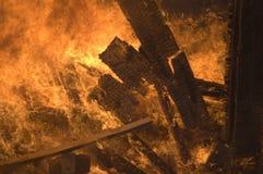 No incêndio Fotos de Stock Royalty Free