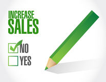 No increase sales sign concept Stock Image