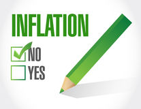 No inflation sign concept illustration design Royalty Free Stock Photography