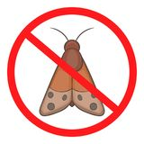 No insect icon, cartoon style. No insect icon. Cartoon illustration of no insect icon for web royalty free illustration