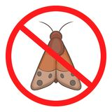 No insect icon, cartoon style. No insect icon. Cartoon illustration of no insect vector icon for web Royalty Free Stock Photos