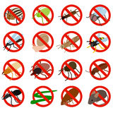No insect sign icons set, isometric 3d style Stock Photos