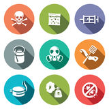 No Insects Flat Icon Collection Royalty Free Stock Photography