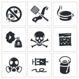 No insects icon set Royalty Free Stock Photo