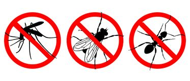 No insects. Signs set stock illustration